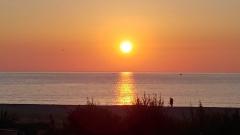 Aphrodite Village Naturiste - Lever de soleil sur la plage © Locations-leucate.com